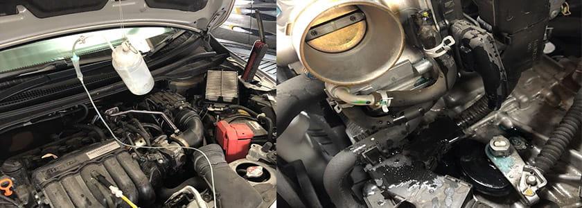 WAKO'Sエンジン内部洗浄RECSを使用している画像